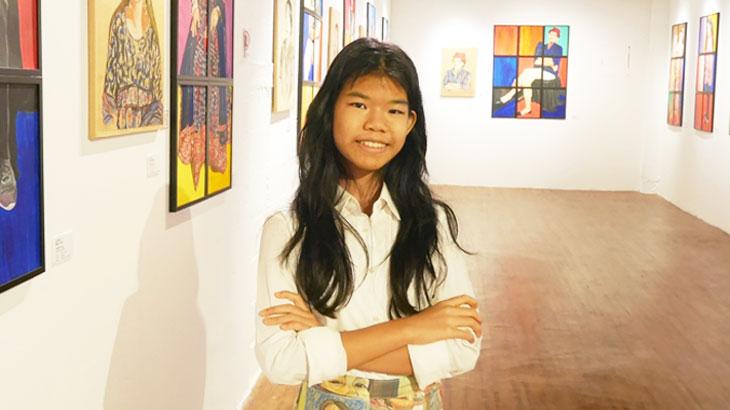"""【タイ】13歳の少女アーティストが描く母親たちの人生""""The Colors of Moms'LIVES"""" Paintfa Chanchutiwanit"""