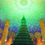 【タイ】エメラルド色に輝く天井画と仏塔「ワットパクナム」の行き方など詳細をご紹介!