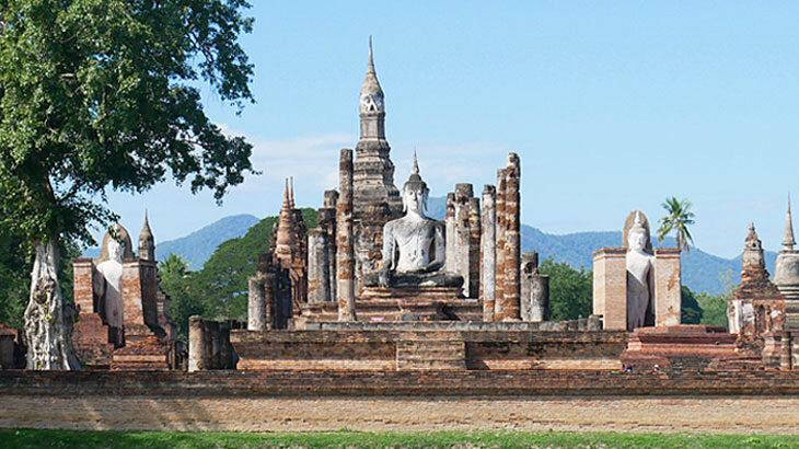 【タイ】スコータイ歴史公園の遺跡巡り!旧市街地にある城壁内外のまわり方とその魅力